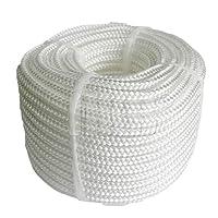 vielseitig einsetzbar robust 12 fach geflochten Material: Polypropylen Farbe: weiss Länge: 20 m