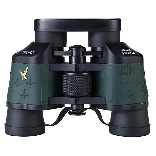 Bueuwe 60X60 prismáticos de Gran Alcance para Adultos, Marina prismáticos, binoculares con telémetro Impermeable del compás, navegación Barco Pesca de Deportes acuáticos de Caza