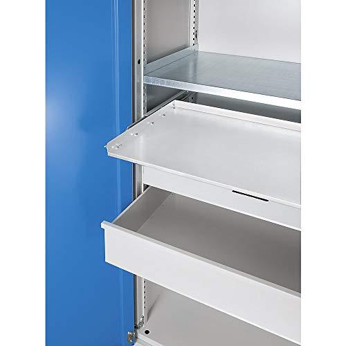 Tablette coulissante pour armoire pour charges lourdes Jumbo - avec paroi médiane - gris clair - accessoires armoire pour charges lourdes armoires pour charges lourdes tablette coulissante tablettes