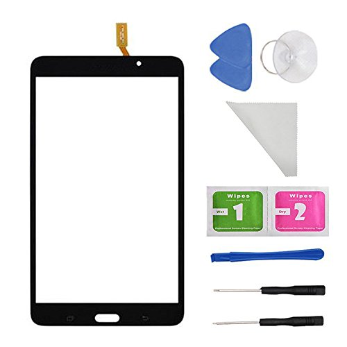 Black Touch Screen Panel Digitizer Glass For Samsung Galaxy Tab 4 SM-T230 T230NU 7' inch With (Adhesive) and Tools