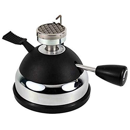 Initial heart Gasbrenner Ht-5015Pa Tisch Gas Butanbrenner Heizung Fuer Siphon Kaffeemaschine Odertee Tragbarer Gasherd, Kaffee Herd, Siphon Topf, Moka Topf,Schwarz