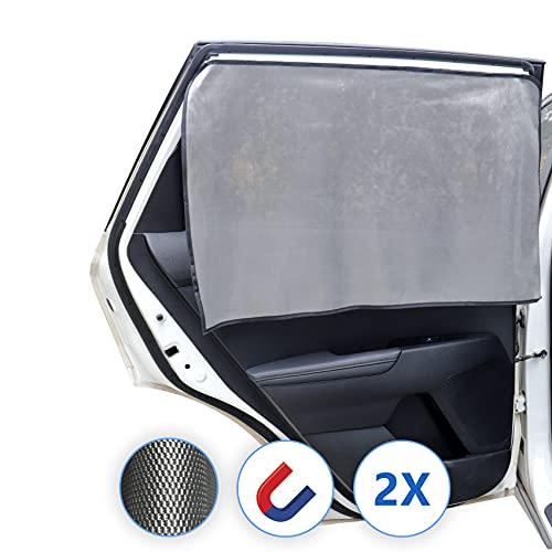 Lechin Tende Magnetico Oscuranti per auto - Parasole per finestrino laterale dell'auto (2X) - Tendine parasole per auto per bambino - Finestra posteriore - Vestibilità universale