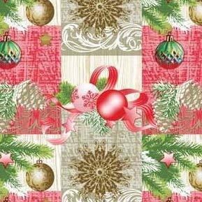 Tafelkleed van tafelzeil per meter Kerstmis K848-2 Selecteerbare maat in hoekige ronde ovaal 140 x 260 cm eckig Veelkleurig