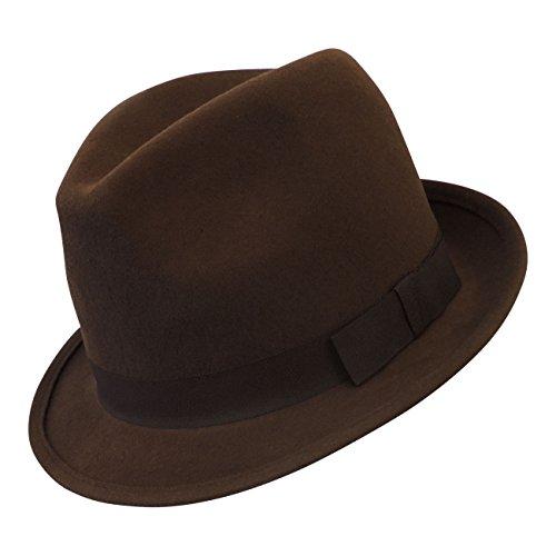 Viva-la-Rosa Heren Classic 1930's 1940's VTG stijl wol voelde Gangster maffia trilby hoed