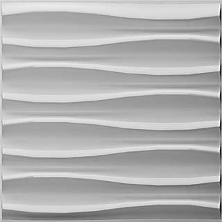 Art3d Paintable 3D Texture Wall Panels, Pack of 12 Tiles 32 Sq Ft (Plant Fiber)