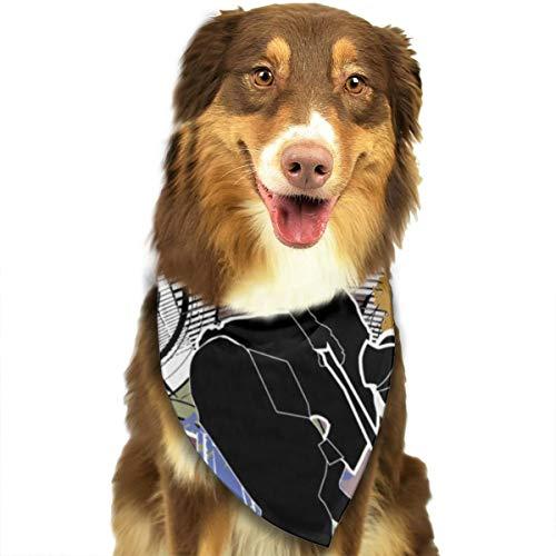 Sitear City Biker? Hond Kat Bandana Driehoek Bibs Sjaal Huisdier Kerchief Halsdoek Set Voor Kleine Tot Grote Hond Katten Gepersonaliseerd
