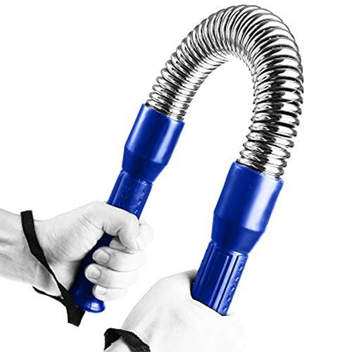Barra elastica a molla Power Twister - Espansore muscolare a doppio petto Allenatore della forza a...