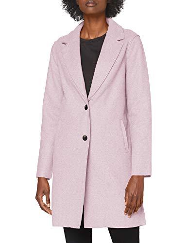 ONLY Damen Onlcarrie Bonded Coat Otw Noos Mantel, Woodrose/Detail:w.melange, L EU