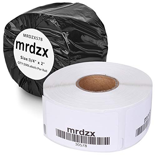 """2 Rolls Compatible with Dymo 30578 Return Blank Address Multipurpose Labels, 3/4"""" x 2"""" Barcode Replacement Labels for Labelwriter 450, 4XL,500 Labels Per Roll"""