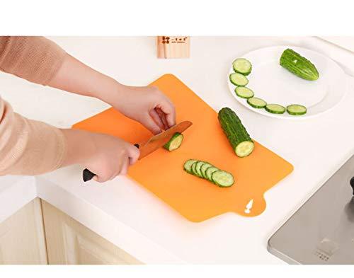 KAEHA qcb-0001-01-x Tabla de cortar de cocina fácil de plegar en plástico naranja duradero