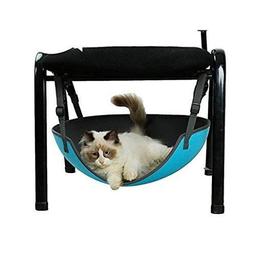 Guomaomao Huisdier Bed Elliptische Kat Bed Hangmat Swing Iron Cage Stoel Zonder Pad Slijtvaste EVA Kitten Hangend Bed