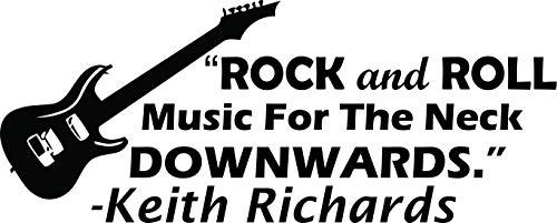 Keith Richards Rock-Zitat Rocker Gitarre Konzert, inspirierende Musik Zitate Songs, Instrumente, Melodie Love Decals Aufkleber Vinyl Art Sticker für Schlafzimmer Größe 38,1 x 50,8 cm