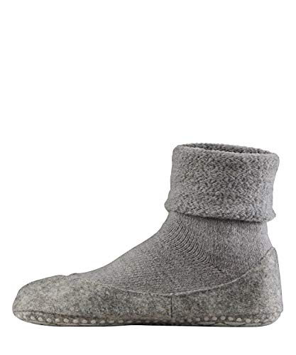 Falke womens Cosyshoe Slipper Sock - 90% Virgin Wool, Grey (Light Grey 3400), US 6.5-7.5 (EU 37-38 Ι UK 4-5), 1 Pair
