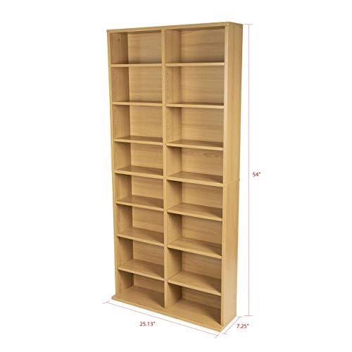 Atlantic Oskar Adjustable Media Cabinet - Holds 464 CDs, 228...