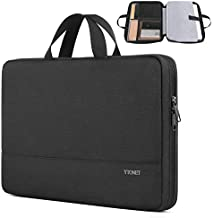 Laptop Sleeve Case, 13inch TSA Slim Laptop Case for MacBook Air MacBook Pro, Durable Water Resistant Business Briefcase Handle Bag for 13-13.3 inch HP Dell Lenovo Laptop, Black