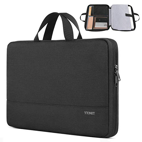 Laptop Sleeve Case, 13.3 inch Slim Water Resistant TSA Laptop Case Durable Business Briefcase for 13.3 inch MacBook Air Pro HP Dell Lenovo Notebook, Gifts for Men Women, Black