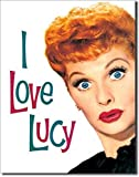 Anjoes I Love Lucy - Lucy's Face Vintage Metal Tin Signs for Home Kitchen Wall Art Pub Bar Decor 8 x 12