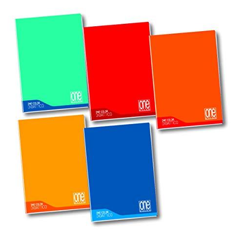 Maxi Blasetti Didattico per dislessia, disgrafia, disortografia One Color 100 gr. 18+1 rigo C - 6 Quaderni