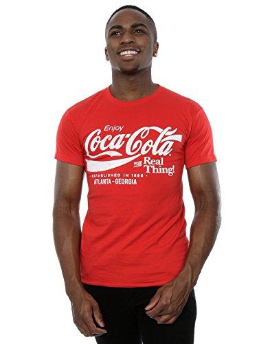 Coca Cola Uomo Atlanta Georgia Maglietta Large Rosso