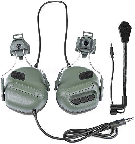 Lejie Tactische Helm Headset Hoofdtelefoon Elektronische Shooting Oor Bescherming Geluid Versterking Geluidsreductie Oor Muffs Jagen Shooting Oor Defender met Afneembare Microfoon