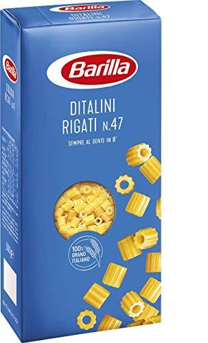 5x Pasta Barilla Ditalini Rigati N° 47 kurze Pasta 500g pack 100% italienisch
