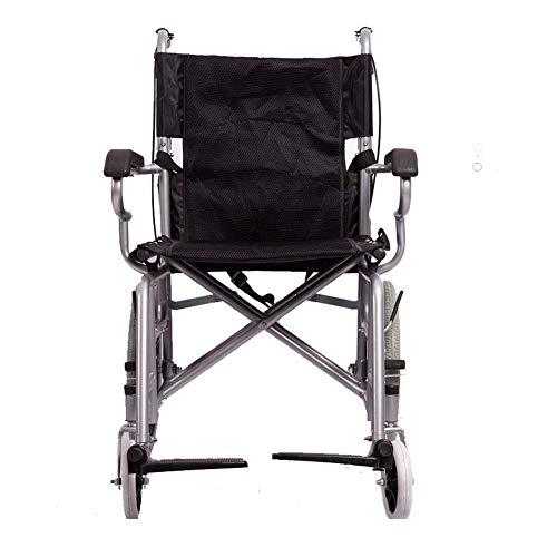 MKKM Carro hospitalario, Rack de suministros médicos, Tubo de acero plegable ligero Silla de ruedas Conducción Médica Adulto engrosamiento Asiento blando Ancianos Discapacitados Carro de autos