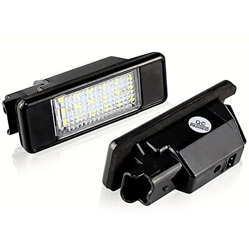 WYYUE 2 Piezas de Luces LED para matrículas, lámparas de luz para matrículas, Accesorios de luz para matrículas Compatible con P-eugeot 206/207 / 306/307 / 308/406 / 407/5008