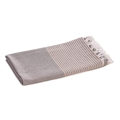 Walk Heart Collection 100% Cotton Beach Towel/Extra Large Bath Towel/Swimming Pool Towel Quick Absorption and Faster Drying Towel Pack of 1 (Size 180cmX100cm) Gray