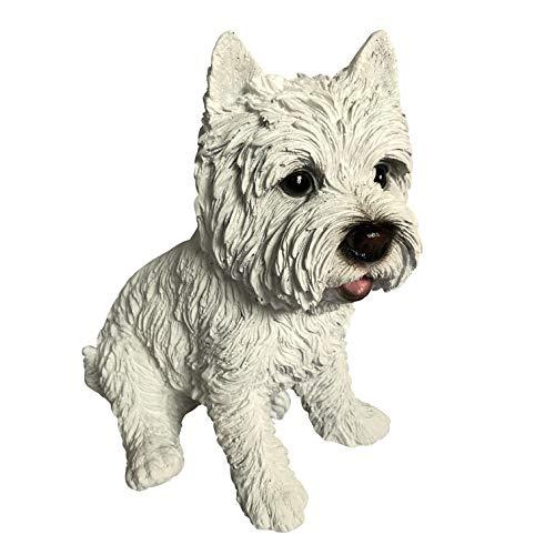 Westie West Highland Terrier White Deko Figur - Hunde Gartenfiguren für außen geeignet