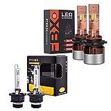Best D4s Bulb 6000ks - D4S HID Bulbs Bundle with 9005 LED Headlight Review