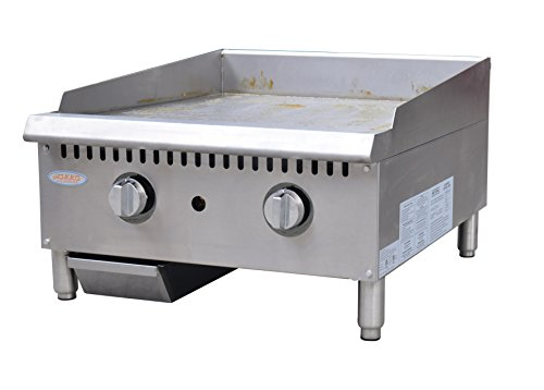 """Hakka Heavy Duty Commercial 24"""" Countertop Gas Thermostat Griddles"""