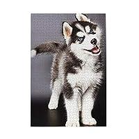 1000ピース ジグソーパズル 可愛い ハスキー 犬 ジグソーパズル 木製パズル Puzzles 50x75cm(6歳以上が適しています)