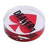 SM SunniMix Botón de Distribuidor Dealer Póker Texas Accesorios de Juegos de Casino Fiesta