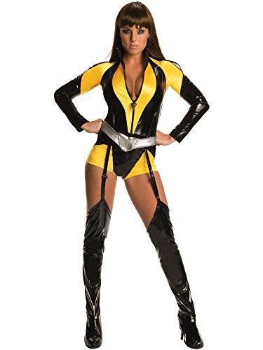 Watchmen Silk Spectre Kostüm Damen 3-tlg. Overall, Gürtel, Stulpen schwarz gelb - M