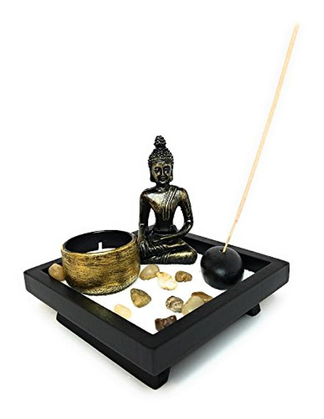 計算する南西作るZen Garden with Buddha、Tea Light Candle and Incense Holder?–?Perfect for瞑想( 5?