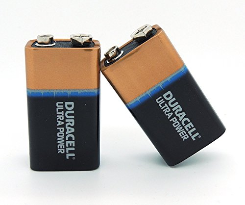 2 Batterien Duracell Ultra Power 9V Block 6LR61 AM-6 6F22 Alkaline in Box