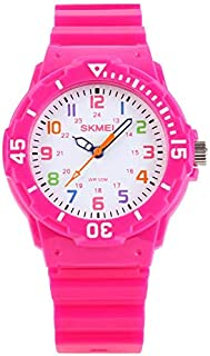 Kids Watches for Girls Ages 5-7 PU Band and 50M...