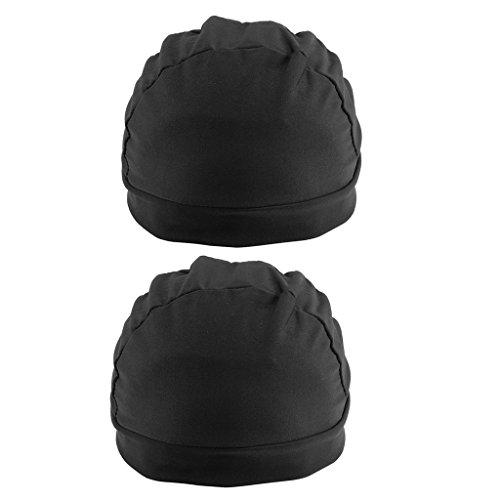 Bonarty 2pcs Bonnet Wig Cap En Spandex Pour