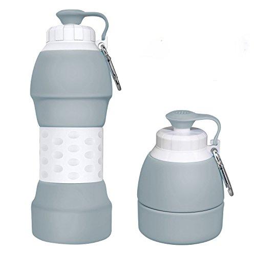 Botella de agua plegable de silicona Ecosylife – portátil, ligera,...