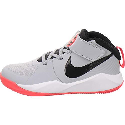 Nike Team Hustle D 9, Running Shoe Unisex niños, Gris Humo/Negro/Carmesí Láser, 31 EU