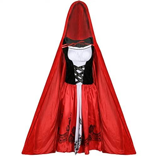 XHDDYY-Disfraz Halloween Mujer Capa, Talla Grande Engrosamiento Diablo con Capucha Terciopelo Disfraz de Halloween, para Mujeres Carnaval Fiesta Disfraces,XXL