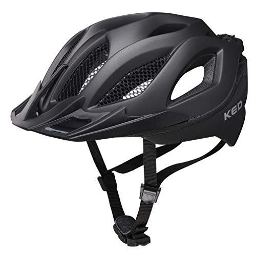 KED Spiri Two L Black matt - 55-61 cm - inkl. RennMaxe Sicherheitsband - Fahrradhelm Skaterhelm MTB BMX Erwachsene Jugendliche