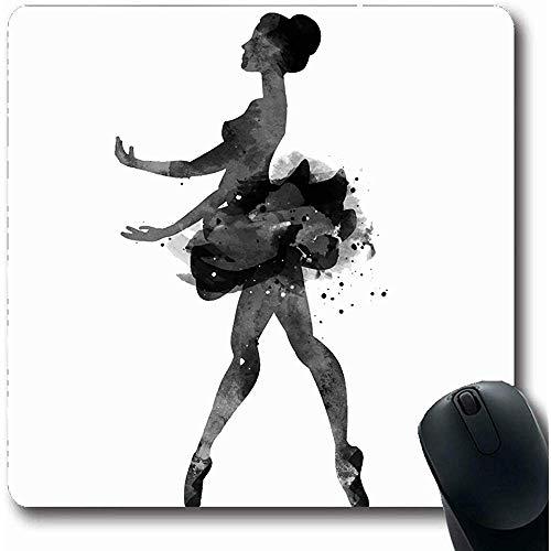 Mousepads Expressie Blauw Ballerina dansen aquarel schoen actie activiteit evenwicht ontwerp jonge blong vorm 18X22Cm anti-slip Gaming Mouse Pad
