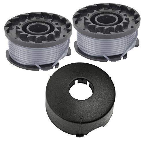 Spares2go - Bobina doble de alimentación + tapa para cortacésped Bosch ART23 (1 tapa, 2 bobinas)