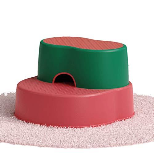 FXJ Squatty Potty Baño Aseo Antideslizante Taburete Baby Step Step Taburete Split Combinación (Color : Red, tamaño : Conventional)