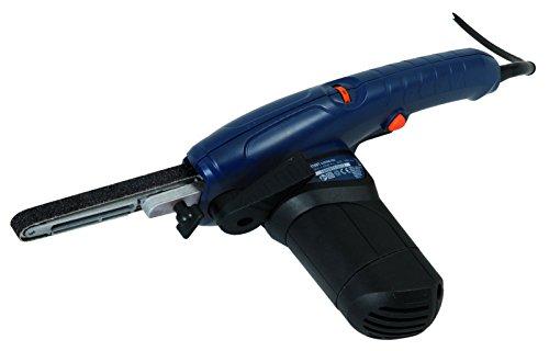 FERM Lime électrique 400W Incl. bras large 13mm, bras étroit 8mm, bras incliné 13mm, 12 bandes abrasives