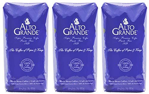 Alto Grande Super Premium Coffee Whole Beans, 2 pound bag (Pack of 3)