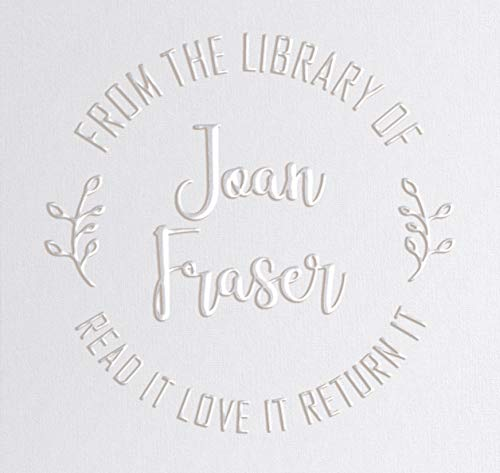Library Book Embosser Seal Stamp Personalized Customized 1 x 5/8