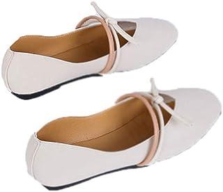 フラットシューズ ストラップ ローヒール ぺたんこ パンプス 靴 レディース 歩きやすい オフィス 疲れない 立ち仕事 ワイズ 3e フォーマル 室内履き 大きいサイズ 幅広 黒 クロスストラップ ふわふわ ペタンコ靴[ムリョ]