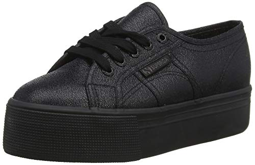 Superga 2790-lamew (Low-Top Trainers) Black (Total Black 912), 41 EU